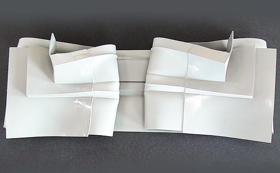 塩ビ樹脂材のカット・溶着・検査・梱包